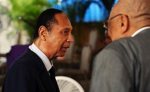L'ancien président haïtien Jean-Claude Duvalier à Port-au-Prince le 5 juillet, 2014.