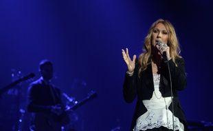 Céline Dion lors d'un concert à Bercy, le 24 juin 2016.
