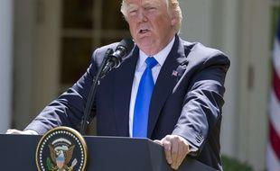 Le président américain Donald Trump a rassuré ses alliés de l'OTAN lors d'une conférence presse dans la Roseraie de la Maison Blanche, le 9 juin 2017.
