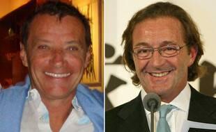 Les agents de mannequins Jean-Luc Brunel et Gérald Marie au début des années 2000 (photomontage).