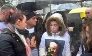Jennifer Cleyet Marrel et Joachim de Araujo, parents de Maelys ont organise une Marche blanche en l'honneur de Maelys, 4 mois apres sa disparition a Pont de Beauvoisin Isere.