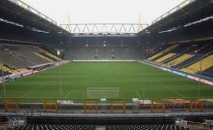 L'intérieur du stade du Borussia Dortmund.
