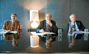 De gauche à droite, Thierry Fouquet, Dominique Ducassou et Gérard Lion, dirigenats de l'Opéra national de Bordeaux