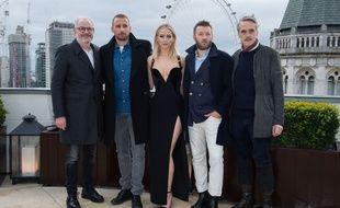 Francis Lawrence, Matthias Schoenaerts, Jennifer Lawrence, Joel Edgerton and Jeremy Irons à Londres, le 20 février 2018.