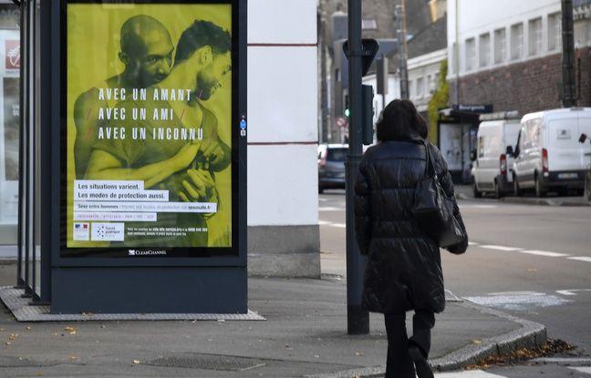 Affiche de la campagne de prévention contre le sida lancée par le ministère de la santé le 22 novembre 2016 à Rennes.