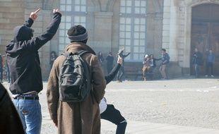 Illustration d'une manifestation contre la loi Travail, ici le 17 mars à Rennes.