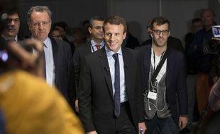 Emmanuel Macron et Ismaël Emelien (à droite) en 2016.