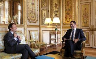 Emmanuel Macron et Christophe Castaner, le 20 novembre 2017 à l'Elysée.