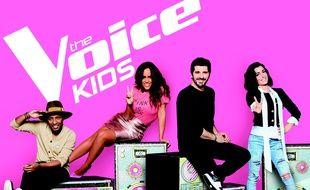 Soprano, Amel Bent, Patrick Fiori et Jenifer; coachs de «The Voice Kids» saison 5.