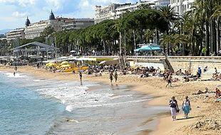 La plage de la Croisette, à Cannes (Illustration)