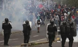 Violences lors d'une manifestation à Quito, le 9 octobre 2019.