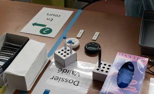 Un espace de tests antigéniques et PCR contre le Covid-19 à l'aéroport Paris-Orly. (illustration)