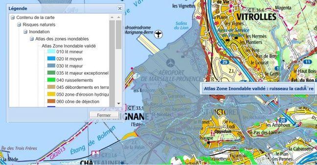 L'aéroport de Marseille se situe en zone inondable.