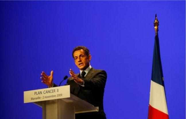 Nicolas Sarkozy lors de la présentation de ses mesures pour 2009-2013.