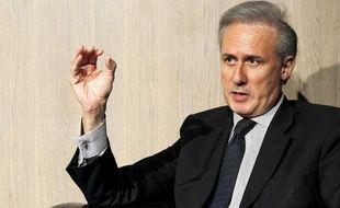 Georges Tron, alors secretaire d'Etat charge de la  Fonction publique, au 40e anniversaire de l'Institut Regional  d'Administration (IRA) de Lyon, a Villeurbanne le 12 avril 2011.