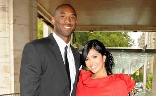 Le basketteur Kobe Bryant et son épouse Vanessa.