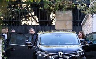 Paris, le 20 Mai 2021. Nicolas Sarkozy quitte son domicile alors qu'il est attendu au tribunal judiciaire de Paris pour l'ouverture du procès de l'affaire «Bygmalion».