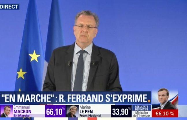 Richard Ferrand, secrétaire général d'En Marche!, lors d'une conférence de presse, le 8 mai 2017.
