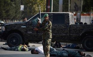 Un membre de la sécurité afghane, à Kaboul.