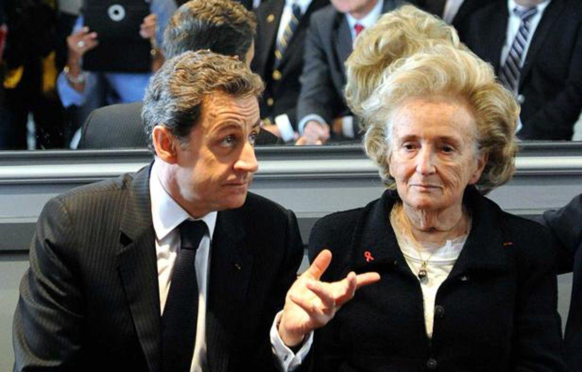 Nicolas Sarkozy et Bernadette Chirac, le 27 mars 2012 à Guérande. – SALOM-GOMIS SEBASTIEN/SIPA