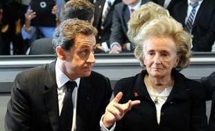 Nicolas Sarkozy et Bernadette Chirac, le 27 mars 2012 à Guérande.