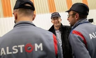 Le président d'Alstom, Henri Poupart-Lafarge, ici en visite à Valenciennes en février 2019.