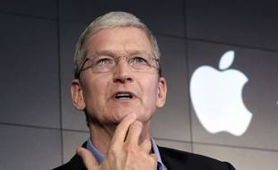 Tim Cook, le patron d'Apple, en avril 2015.