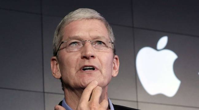 Tim Cook, le patron d'Apple, en avril 2015. – Richard Drew/AP/SIPA