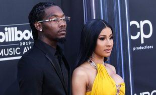 La rappeuse Cardi B et son mari Offset, en 2019