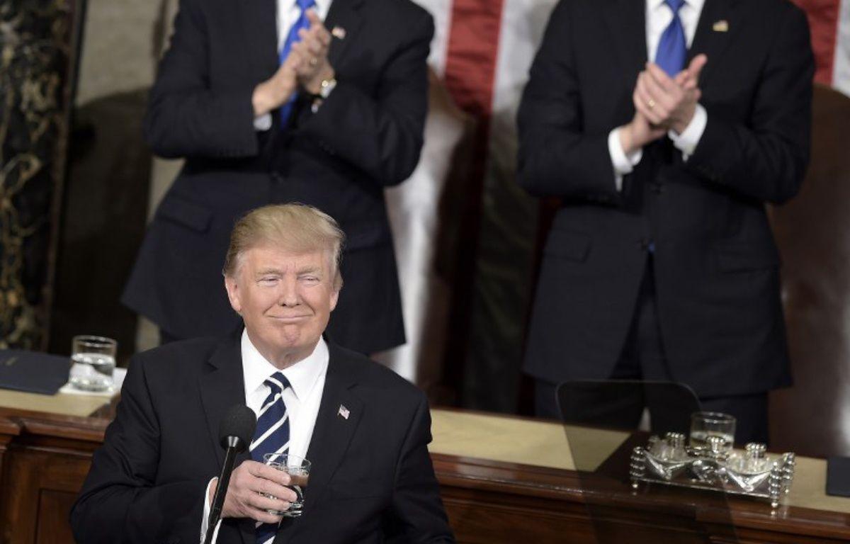 Donald Trump a prononcé son discours de politique générale face au Congrès le 28 février – BRENDAN SMIALOWSKI / AFP