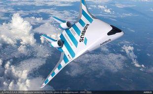 Maveric, l'aile volante  mise au point par Airbus et dévoilée le 11 février au salon aéronautique de Singapour.