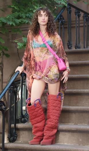 Katerina Tannenbaum, le 20 octobre, à New York sur un tournage HBO.