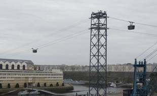 Illustration du téléphérique à Brest.