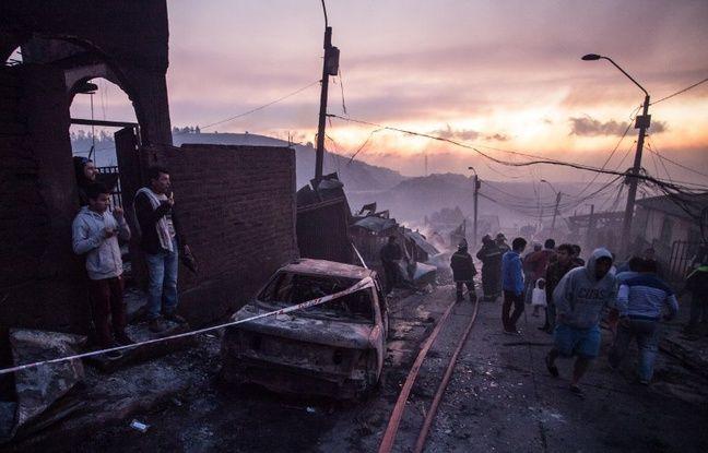 Dix-neuf personnes ont été blessées dans un incendie au Chili le 2 janvier 2017