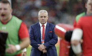 Warren Gatland lors de France-Pays de Galles en quarts de la Coupe du monde.