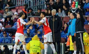 Le milieu de terrain d'Arsenal Mathieu Flamini, le 16 mars 2016, à Barcelone.
