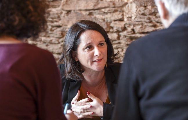 Johanna Rolland, maire de Nantes et candidate à l'élection municipale.