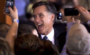 Le républicain Mitt Romney, victorieux dans l'Illinois, le 20 mars 2012.