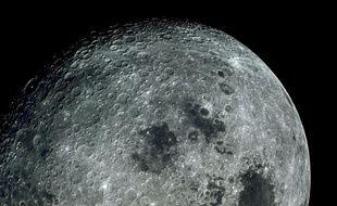 La Lune photographiée par les astronautes d'Apollo 17.