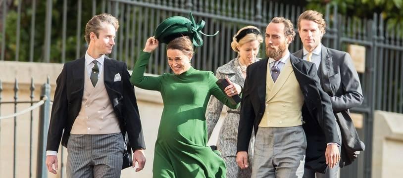 Pippa Middleton au mariage de la princesse Eugenie, samedi 12 octobre 2018.