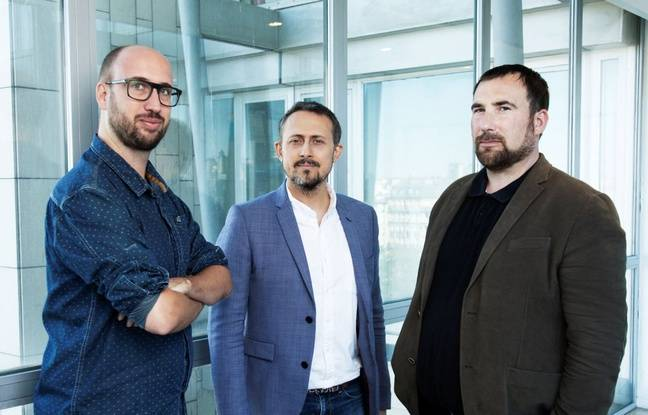 Les journalistes Mathieu Grégoire, Stéphané Sellami et Brendan Kemmet