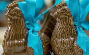 Illustration de sujets de Pâques en chocolat
