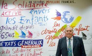 Le président du Secours Populaire, Julien Lauprêtre, le 28 août 2009 à Paris