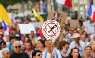 Une manifestation contre le pass sanitaire à Marseille, le 18 septembre 2021 (illustration).