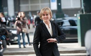 Paris, Hotel Pullmann Montparnasse, 5 avril 2011. - Arrivee de deivers ministres a l'occasion du debat sur la laicite preside par Jean Francois Cope. - Photo : Sebastien Ortola