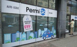 A Lille, le 15 juillet 2015 - L'auto-ecole en ligne PermiGo s'einstalle a Lille.