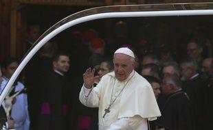 Le pape à Santiago, au Chili, le 16 janvier 2018.
