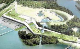 La base nautique à Vaires-sur-Marne devrait être achevée en 2015.