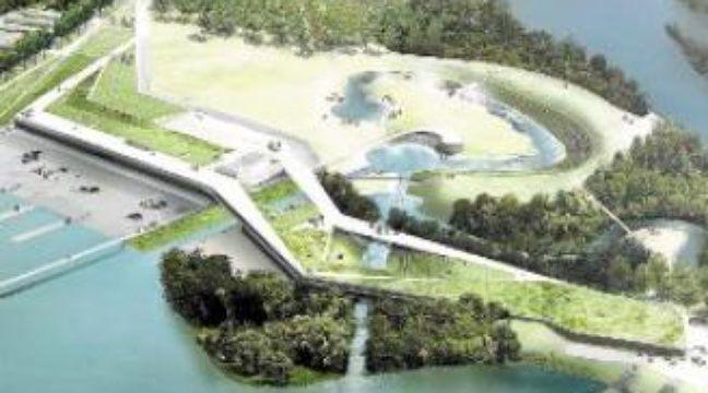 La base nautique à Vaires-sur-Marne devrait être achevée en 2015. –  Dr