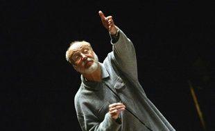 Le chef d'orchestre allemand Kurt Masur le 10 janvier 2003 à Toulouse